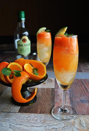 にんじんとみかんでビタミンの補給ができてしまう嬉しいレシピ。鮮やかなオレンジ色も元気をくれます。