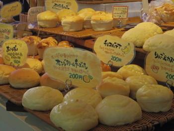 毎日50種類以上焼き上げられるパン。種類が豊富なのも魅力です。益子焼の窯元に併設されているパン屋さんなので、窯元の素敵なお皿もチェックしてくださいね。