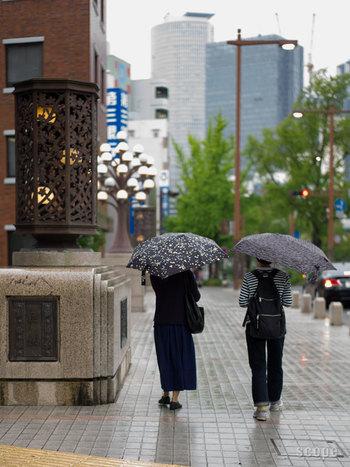 形がユニークな「SENZ(センズ)」の傘。空気力学に基づきデザインされているため、風が強くても傘が裏返ることがありません。人気のファッションブランド「mina perhonen(ミナペルホネン)」とコラボして、頼もしい機能なのにかわいらしい傘ができました。