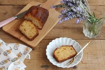 ホロっとしっとりした生地が魅力のパウンドケーキ!ホットケーキでお手軽に作れちゃいます♪