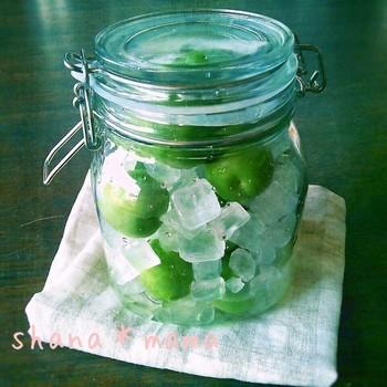 梅シロップを作る時にお酢も一緒に入れる、梅サワーバージョンです。お酢の殺菌効果で傷みにくく、ジュースはもちろん、かき氷やゼリー等に使っても美味しいそうですよ。