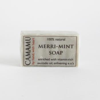 ■メリミントソープ/カマムソープ アメリカ・ポートランド生まれの「カマムソープ」。ミントのソープは涼しい香りと使い心地で夏にぴったりです。陽射しを浴びた乾燥ぎみのお肌にもおすすめ。