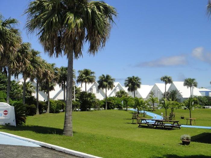 プリシアリゾートホテルは、コテージが並びリラックスして過ごせます。