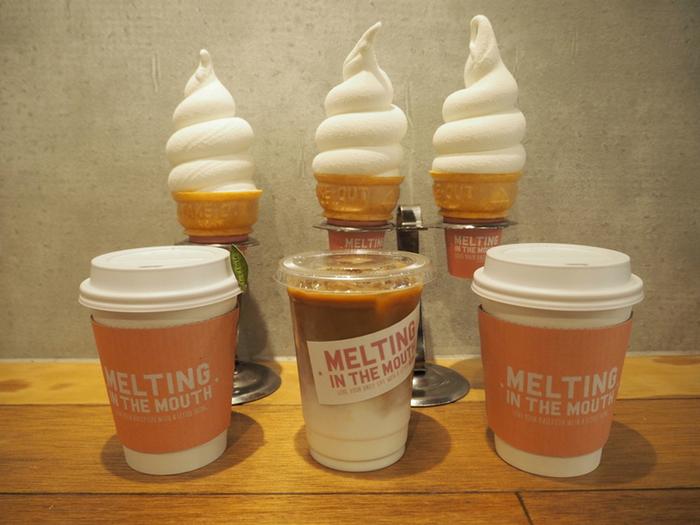 広尾という場所柄、店内はお洒落で落ち着いた雰囲気。ソフトクリームのあまりのキュートさから、今SNSを中心に人気を集めているお店です♪