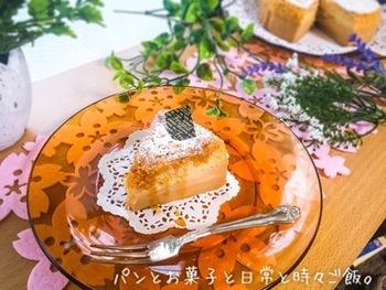 どこか懐かしいキャラメルのやさしい甘さのケーキです。