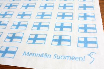 爽やかな北欧国旗をデザイン。