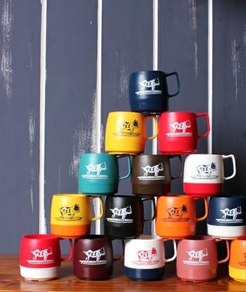 dinexのマグカップはとてもカラフル。 また違った楽しみ方ができます。