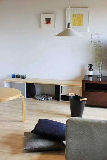 キャンドルグラスは、いくつか並べて飾って置くことでもお部屋の洗練度がアップします。