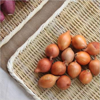 少しずつ残ってしまった野菜や、捨ててしまいがちな野菜の皮も、干してしまえば美味しく食べることができるんですよ。竹のざるに干して置いておくだけでもOKです。