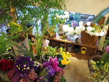 色とりどりのお花を眺めながら癒しのひとときを過ごしたら、帰りは自分のためにお花を買って帰るのもいいですね。
