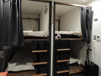 お部屋はドミトリーから個室まで様々。女性専用ドミトリーや、鍵付きロッカーもあるため安心して宿泊できます。