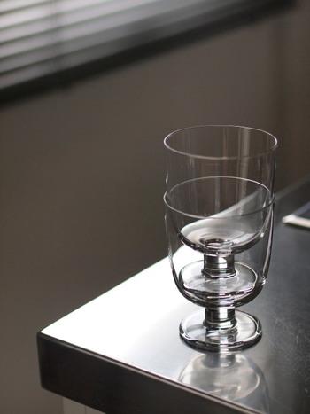 グラスのふちの円周がきっちりと重なるので、収納時にあやまって欠けさせてしまう心配も少ないですね。