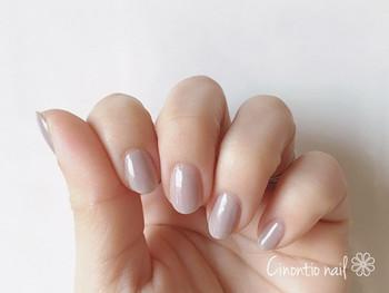 ①ポリッシュネイルは2~3度塗りして自爪が透けないようにしてください。