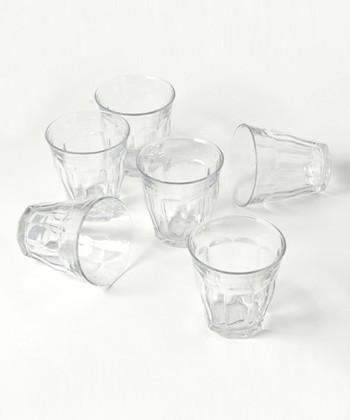 こちらのグラス、カフェで見掛けたことはありませんか?フランスで作られている「DURALEX(デュラレックス)」というグラスなんです。
