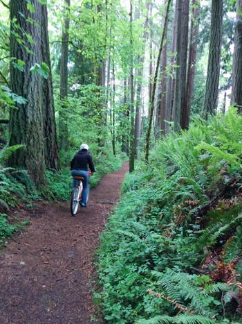 身体を動かすサイクリングもおすすめ。美味しい空気を胸いっぱいに吸い込んで、リフレッシュできますね。