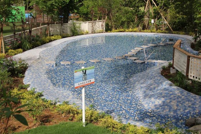 水遊びもできるじゃぶじゃぶ池やドッグプールもあって、こちらも楽しそうですね。夏は気持ちが良さそうです。