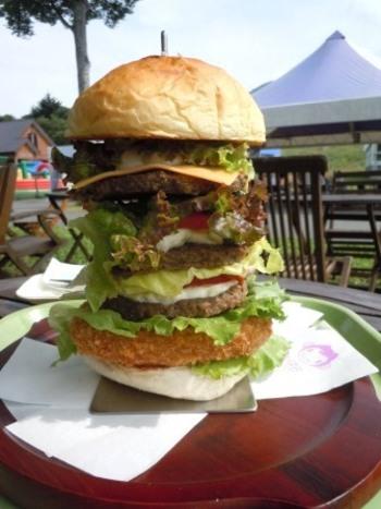 歩き疲れてお腹がペコペコになったら食べてみる!?Tanbara king burger。