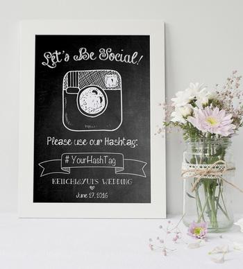 Instagramのハッシュタグをつけて撮影してもらえば、パーティの思い出をみんなで共有できますね。