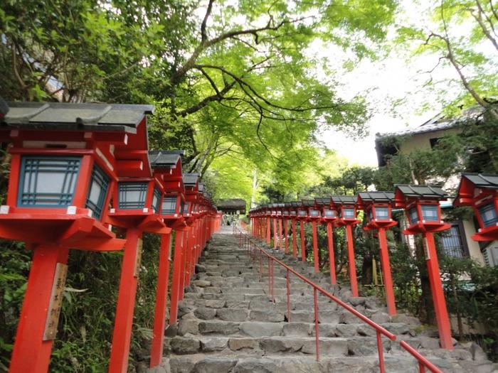 「京の奥座敷」と呼ばれる貴船。標高が高く木々に囲まれているため、京都市内よりも涼しいので昔から避暑地として親しまれた地です。
