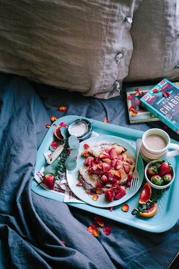 例えば朝食。好きなフルーツやドリンクを準備しておいて朝の自分のためにご褒美を用意しておきましょう。