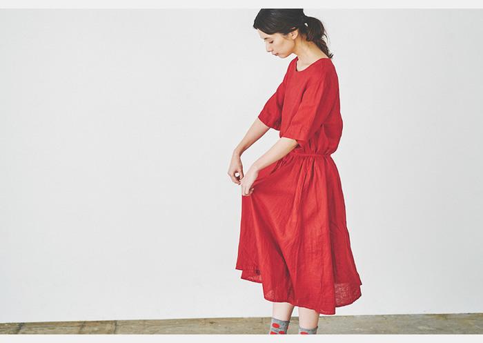 シンプルでどこか懐かしい雰囲気のブランド『prit』。麻や綿などの天然素材を使った、素朴で優しい風合いが魅力。