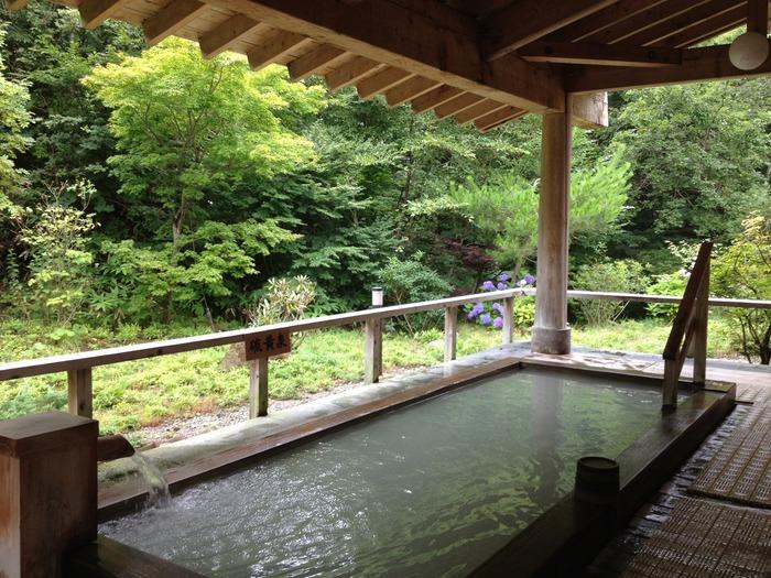 こちらは宿泊棟にある露天風呂ですが、日帰り温泉だって負けてません。サンバレーが所有する3種類の温泉を楽しめ、サウナも完備。
