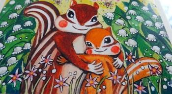 また、大人気のイラストの中から春夏秋冬を厳選して、藤岡さんの書き下ろしメッセージと共に『りすたちのはるなつあきふゆ』という本も発売されています。