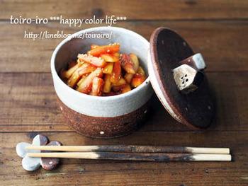 ごはんによく合う中華風のお漬物。夏バテで食欲が落ちているときでも、お箸が進みやすくなりますよ。