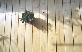 木の板に防水加工を施して敷き詰めても◎木の上を裸足で歩くととっても気持ち良いですよ。