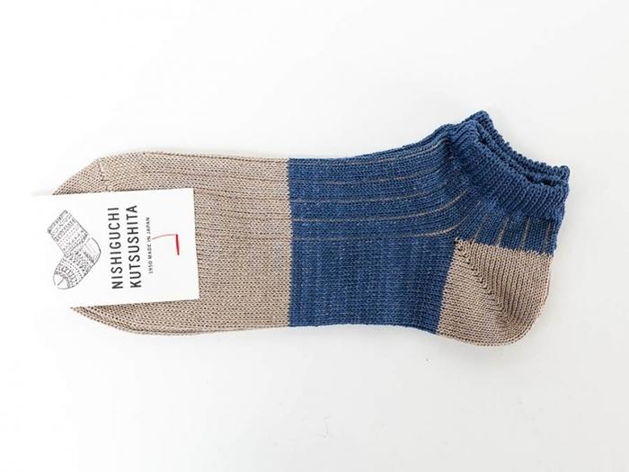 「NISHIGUCHI KUTSUSHITA(ニシグチクツシタ)」は、1950年から靴下を作り続ける日本のブランド。 「はくひとおもい」のキャッチコピーをもとに、素材やデザイン、編み方に価格まで、履く人にとって最良のパートナーとなるような靴下を作り上げることに徹しています。