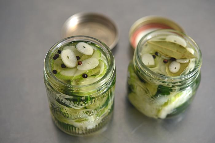 保存容器で漬けて、そのまま約2週間美味しく食べられる!さっぱりとした夏の常備菜としても◎