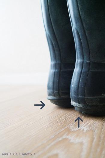 よく使うお気に入りの靴。すぐにすり減ってしまうかかと部分の修繕も、販の靴底の補修材キットなどで自分で簡単にできちゃいます◎