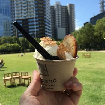 購入して、公園内で朝食やブランチを摂ることが週末の楽しみだという家族も! 小さい子供もたくさん来場しているので、みんなで気兼ねなく通えるのも魅力です。