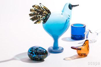 """夏にぴったりのオブジェと言えば、ガラス製のアイテムがそのひとつ。ガラスの透き通る質感が、見た目にも""""涼""""を感じさせてくれます。"""