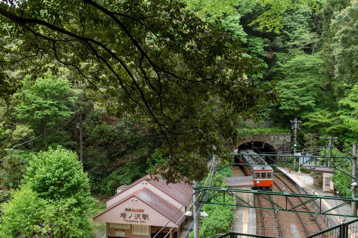 塔ノ沢駅は1920年に開業された箱根登山鉄道線沿線にある無人駅です。駅構内は、トンネルとトンネルに挟まれているうえ、駅へ通じる道は歩行者専用路しかなく、塔ノ沢駅は「秘境駅」そのものです。
