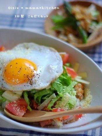 暑い夏でもサラダ感覚でいただける、お野菜たっぷりのタコライスはいかが?