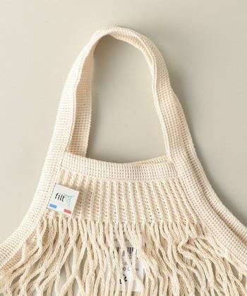FILT社のネットバッグはコットン素材で、収縮性が抜群。軽量なので持ち運びも楽チンです♪しかもとっても丈夫なので、普段遣いにぴったりなんです。