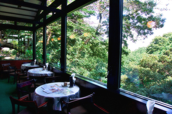 木々に囲まれた店内は窓が大きく、ゆっくりと外の景色を愉しむことができます。
