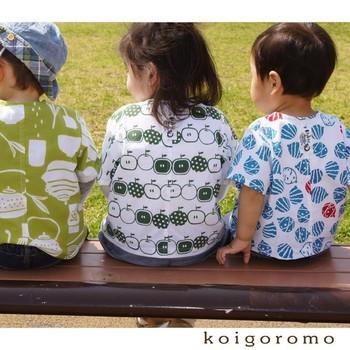 手ぬぐいは、ハンドメイドの生地にもぴったり。 吸水性が高く、すぐに乾くので、例えば夏の子供服のハンドメイドには重宝します。