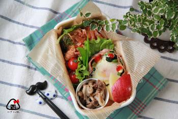 お弁当だってちゃんと糖質オフ仕様に♪豚薄切り肉と薄切り玉ねぎをフライパンで炒めたら、トマトソースであえるだけ、と手軽にトライできます。