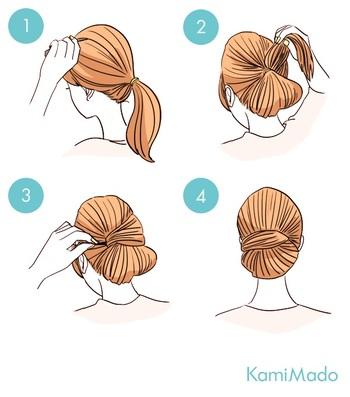 カチューシャやスカーフがなくても簡単にできます♪後れ毛をくるんと髪に巻き付けるだけ。