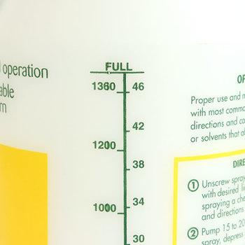 サイドには目盛りがついていて、薬剤や肥料の調合も楽に出来ます。また、ノズルを回すことで霧の細かさを調整することも可能です。黄色と緑のデザインもさりげなくおしゃれで、たかがスプレーと侮れません。
