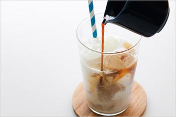 アイスコーヒーの他に、カフェオレやかき氷、アフォガードなど楽しみ方は色々。