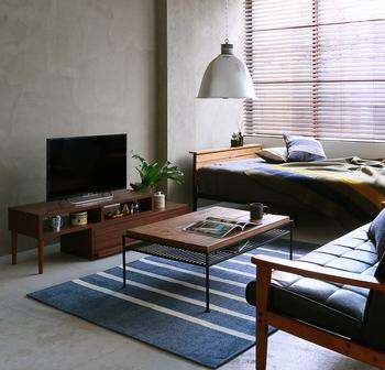 ベッドを部屋の奥に置くことで生活空間の妨げにならずアクティブな導線を確保できます。