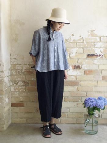 特有のシャリ感やシワ感を楽しみたいリネン。夏にさらりと着こなしたいリネン素材のファッションアイテムをご紹介します。