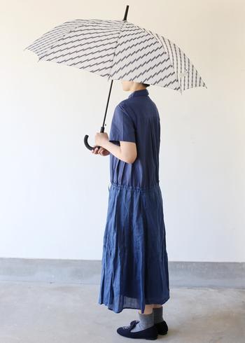 個性的ながらさりげないデザインで、雨の日もさりげなく自己主張できそうです。