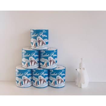 使うのがもったいなくなるほど可愛い、「上山製紙(かみやませいし)」のトイレットペーパー白熊。キュートな熊さんのイラストは、見せる収納で飾っておくのも◎。見ているだけでほっこり癒されますね♪