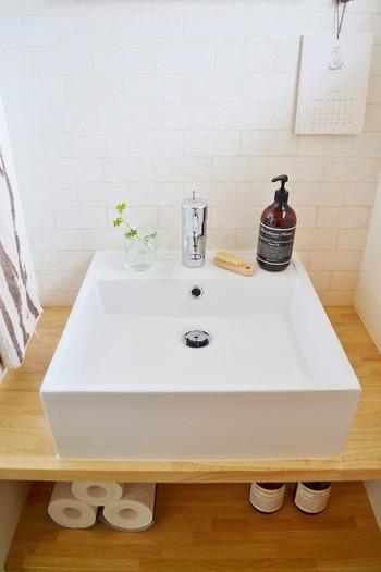 トイレのインテリアにはところどころにグリーンを散りばめてみましょう。空気がキレイに感じられ、解放感もアップしそう。
