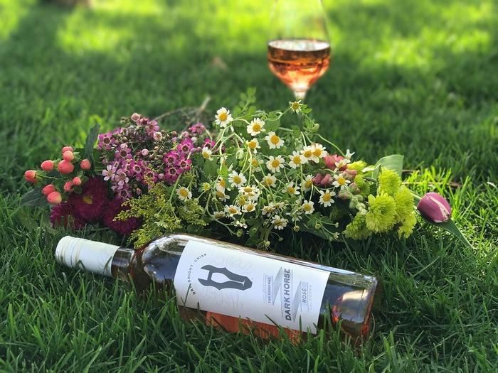 """プロヴァンス名産のロゼワイン「ヴァン・ロゼ(Vin rosé)」。ブドウの果皮の色が優しく色づいた愛らしいワインは、軽やかなプロヴァンス料理と良く合います。  レストランで一緒にワインを注文してみましょう♪  """"Un verre de rosé s'il vous plaît!"""" アン・ヴェール・ドゥ・ろゼ・シル・ヴ・プレ!  「ロゼワインを1杯お願いします」"""