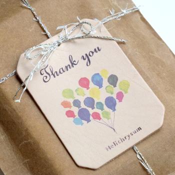 メッセージ性のあるタグは、プレゼントの目的をはっきりとしてくれます。普段は恥ずかしくて言えないような感謝の気持ちをタグに凝縮することができます。